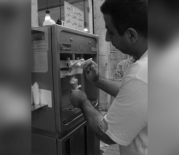 Soft serve machine from the 90's. One of the first to be installed in the region
